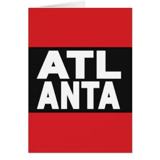 Atlanta 2 Red Greeting Cards