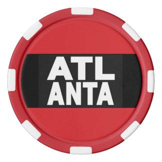 Atlanta 2 Red Poker Chips