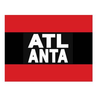 Atlanta 2 Red Postcard