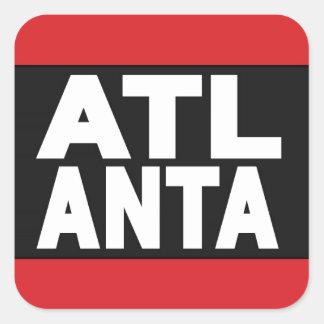 Atlanta 2 Red Square Sticker