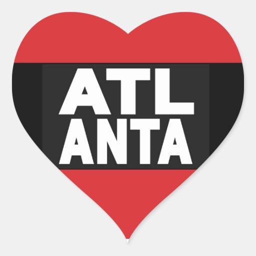 Atlanta 2 Red Heart Stickers