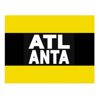 Atlanta 2 Yellow Postcard