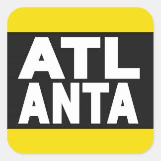 Atlanta 2 Yellow Square Sticker