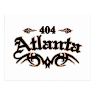 Atlanta 404 postcard