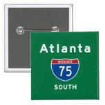 Atlanta 75 2 inch square button