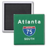 Atlanta 75 imán cuadrado