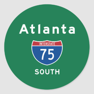 Atlanta 75 pegatinas redondas