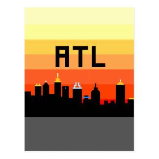 Atlanta 8-Bit Skyline ATL Postcard