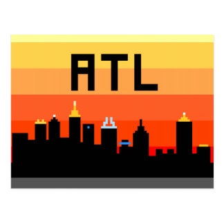 Atlanta 8-Bit Skyline ATL Postcards