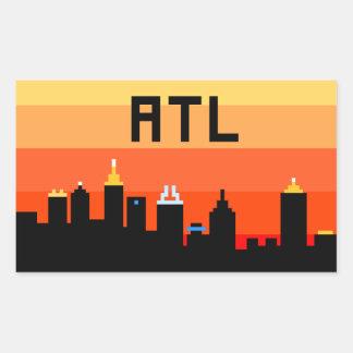 Atlanta 8-Bit Skyline ATL Rectangular Sticker