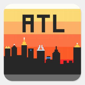 Atlanta 8-Bit Skyline ATL Square Sticker