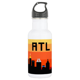 Atlanta 8-Bit Skyline ATL Stainless Steel Water Bottle