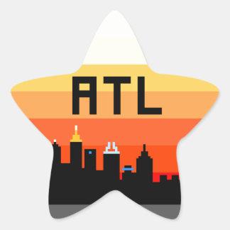 Atlanta 8-Bit Skyline ATL Star Sticker