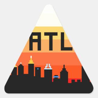Atlanta 8-Bit Skyline ATL Triangle Stickers