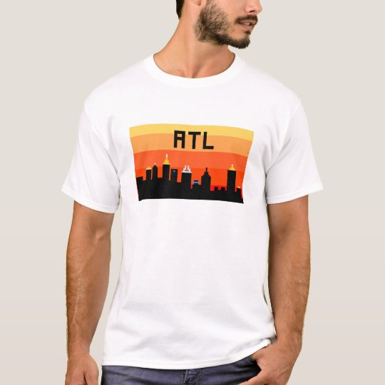Atlanta 8-Bit Skyline ATL T-Shirt