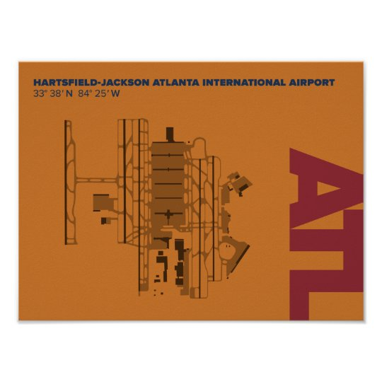 Atlanta Airport Atl Diagram Poster Zazzle