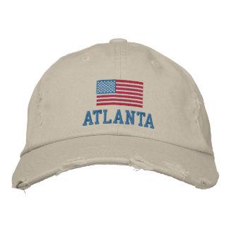 Atlanta American Flag Baseball Cap