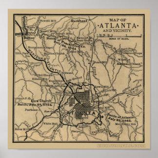 Atlanta and Vicinity Poster