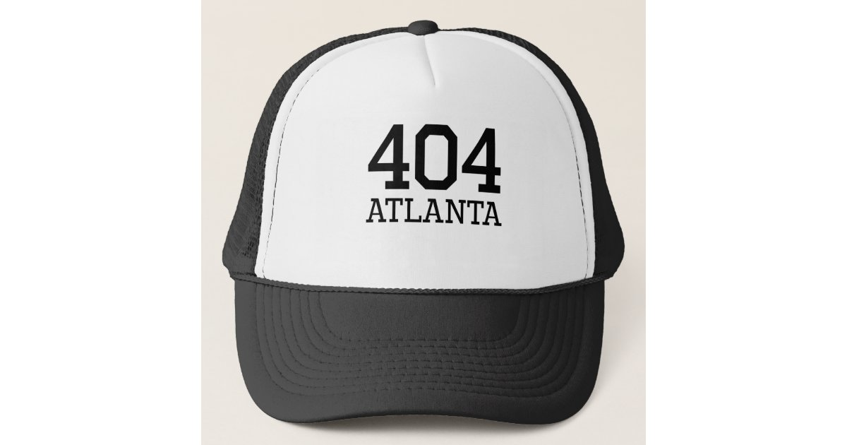 bf60a2a7 Atlanta Area Code 404 Trucker Hat | Zazzle.com