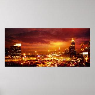 Atlanta at Dusk Poster