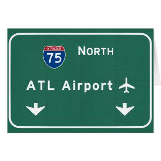 Atlanta ATL Airport I-75 N Interstate Georgia - Card