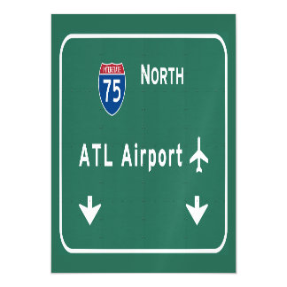 Atlanta ATL Airport I-75 N Interstate Georgia - Magnetic Card