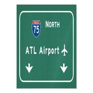 Atlanta ATL Airport I-75 N Interstate Georgia - Magnetic Card