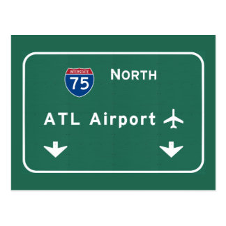 Atlanta ATL Airport I-75 N Interstate Georgia - Postcard