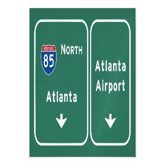 Atlanta ATL Airport I-85 N Interstate Georgia - Magnetic Card