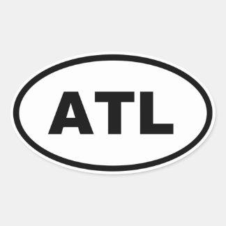 Atlanta ATL Oval Sticker