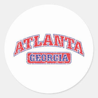 Atlanta atlética pegatina redonda