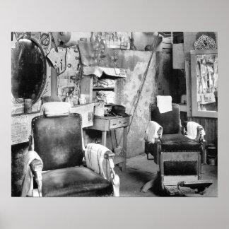 Atlanta Barber Shop, 1936. Vintage Photo Poster
