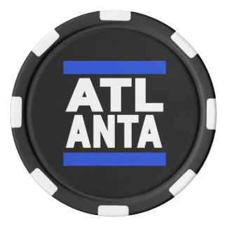 Atlanta Blue Poker Chips Set
