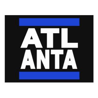 Atlanta Blue Postcard