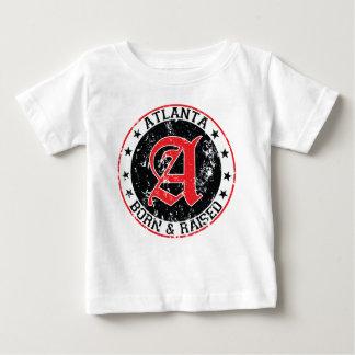 Atlanta born and raised black tee shirt