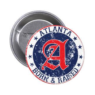 Atlanta born and raised blue button