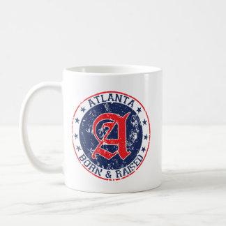 Atlanta born and raised blue coffee mug