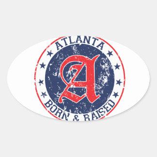 Atlanta born and raised blue oval sticker