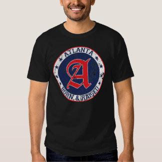 Atlanta born and raised blue t-shirt