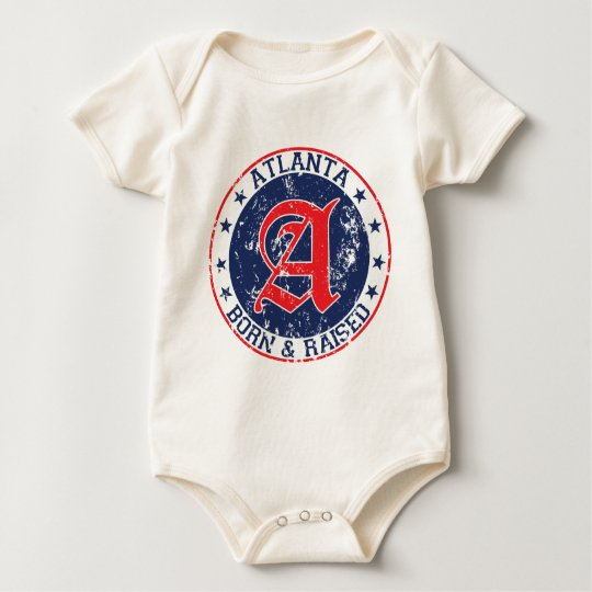 Atlanta born raised blue.png baby bodysuit