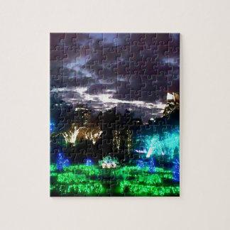 Atlanta Botanical Garden Lights Watercolor Puzzles