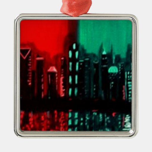 """Atlanta"" by Linda Powell Original ristmas Ornament"