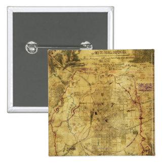 Atlanta Campaign - Civil War Panoramic Map 2 Button