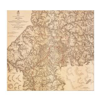 Atlanta Campaign - Civil War Panoramic Map 2 Canvas Print