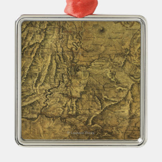 Atlanta Campaign - Civil War Panoramic Map Metal Ornament