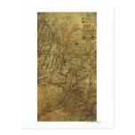 Atlanta Campaign - Civil War Panoramic Map Postcard