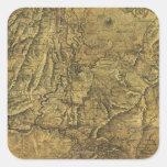 Atlanta Campaign - Civil War Panoramic Map Square Sticker