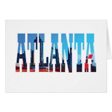 USA Themed Atlanta Card