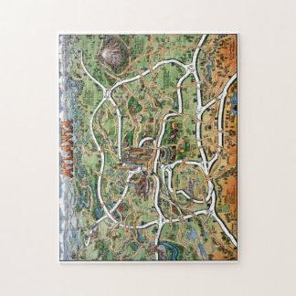 Atlanta Cartoon Map Puzzle
