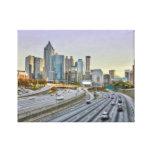 Atlanta céntrica lona envuelta para galerías